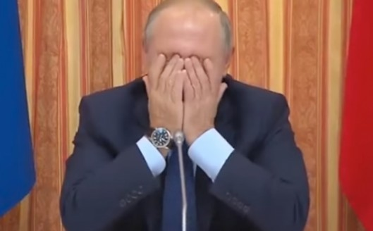 Новость осмехе Владимира Путина спровоцировала бурное рассмотрение Трампа