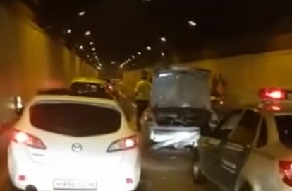 Всочинском тоннеле случилось массовое ДТП