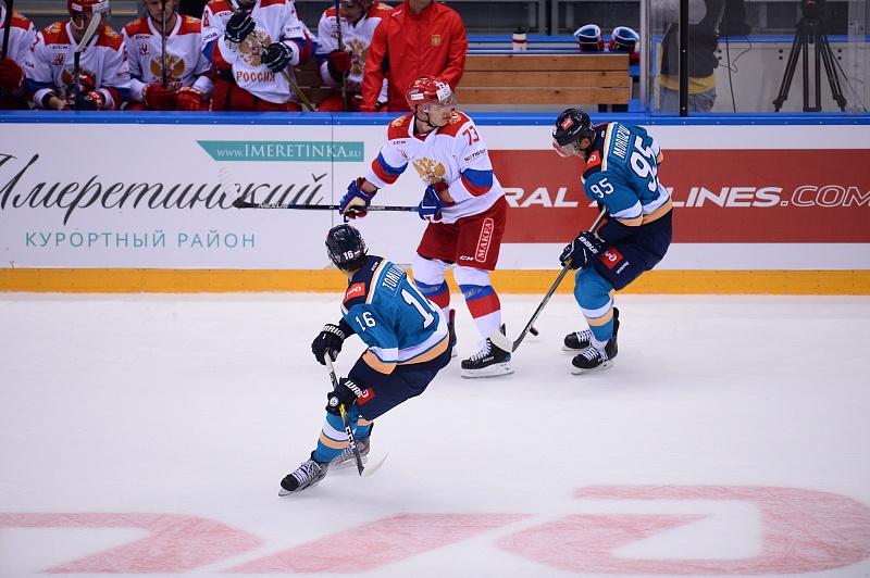 Олимпийская сборнаяРФ похоккею обыграла канадцев напредсезонном турнире