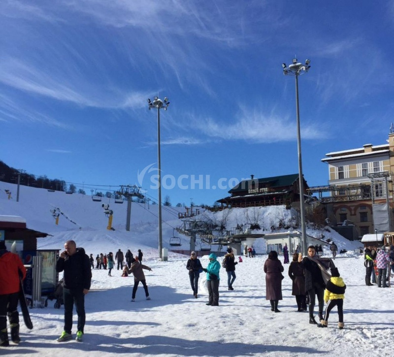В новогодние праздники курорты Сочи посетили более 5000 туристов